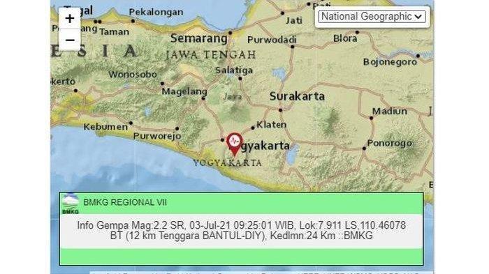 Gempa Bumi Sabtu (03/07/21) Tadi Pagi, Gempa di Darat dan Laut, Ini Magnitudo dan Lokasinya