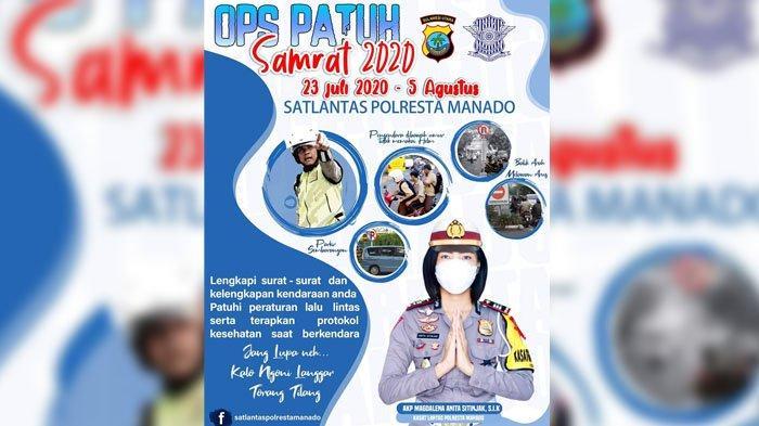 INI Lokasi Operasi Patuh di Kota Manado Jumat 24 Juli 2020, Jangan Lupa Pakai Helm & Sabuk Pengaman