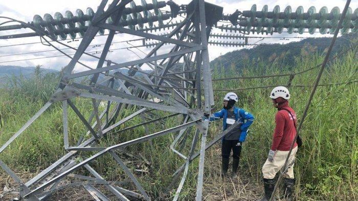 PLN Kebut Perbaikan Tower Transmisi, Pasca Gangguan Transmisi Section Poso – Sidera