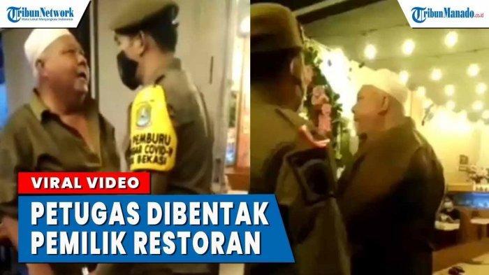 VIDEO Pemilik Restoran Bentak Petugas Saat Ingatkan Jam Operasional