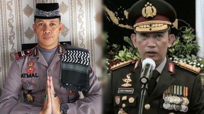 Iptu M Atmal Fauzi dan Kapolri Jenderal Lisyto Sigit