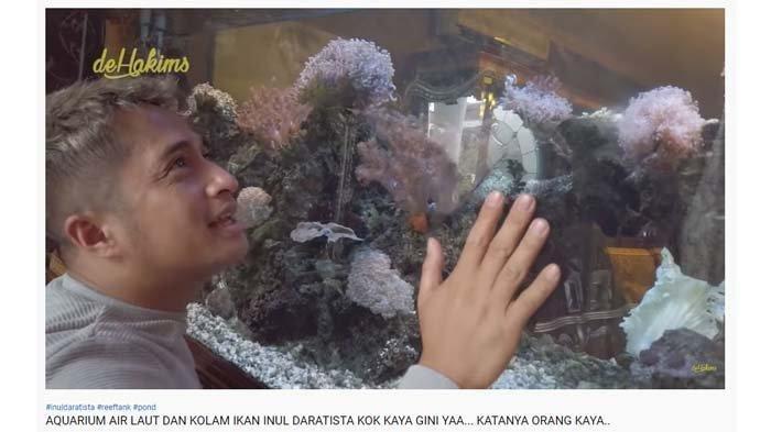 Irfan Hakim kagum lihat akuarium air laut di rumah Inul Daratista