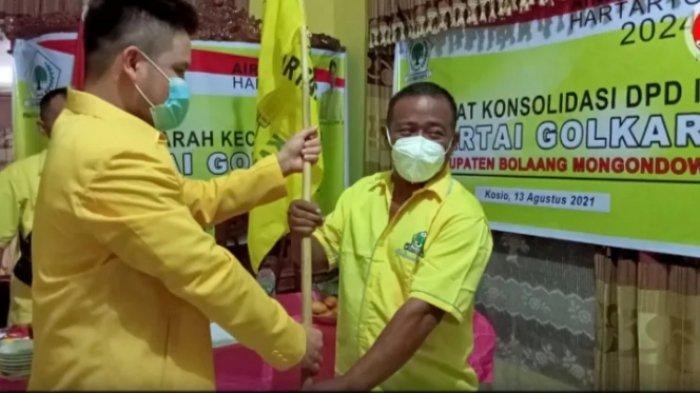 Irwan Suid Resmi Pimpin Partai Golkar Dumoga TengahKabupaten Bolmong