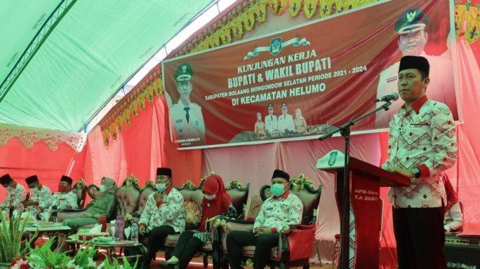 Iskandar Kamaru-Deddy Abdul Hamid Lakukan Kunker Perdana ke Kecamatan Helumo