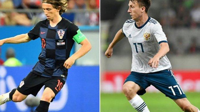 Jadwal Live dan Prediksi Rusia Vs Kroasia: Pertarungan Jenderal Lapangan Tengah di Piala Dunia 2018