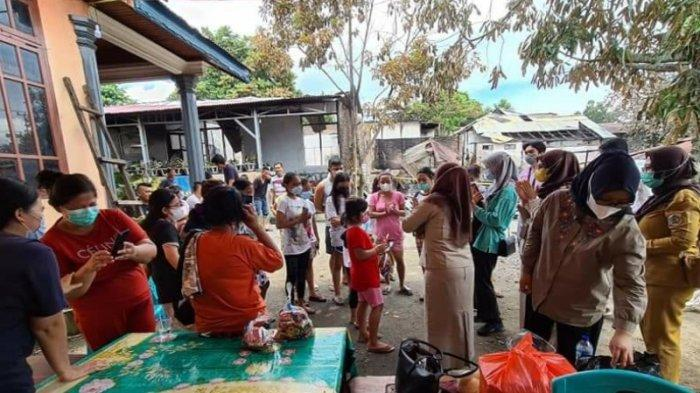 Anak-anak Korban Kebakaran di Kotamobagu Ikut Trauma Healing Bareng DP3A