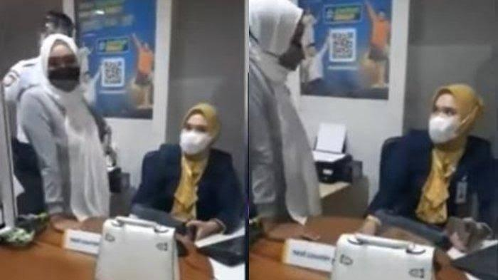 Istri Sah Teriak Pelakor Labrak Pegawai Wanita Berambut Pirang: Di TikTok Gak Pakai Jilbab, Buka!