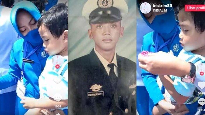 Momen Anak Serda Dwi Nugroho Kru KRI Nanggala-402 Ikut Tabur Bunga: Dadah, Afin Gak Nyari Ayah Lagi