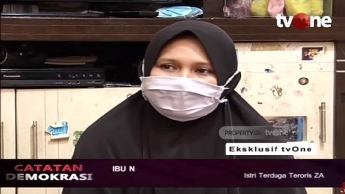 Istri ZA Terduga Teroris Bongkar Kelakuan Suami di Rumah, N : Nyesek Hati Ini