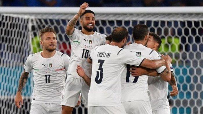 SKOR Turki VS Italia Euro 2020, Tim Asuhan Roberto Mancini Menang, Ini Nama-nama Pencetak Gol