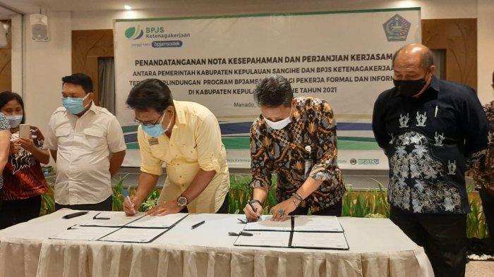 BPJamsostek Manado Lindungi 5.300 Pekerja Formal dan Informal di Kabupaten Kepulauan Sangihe