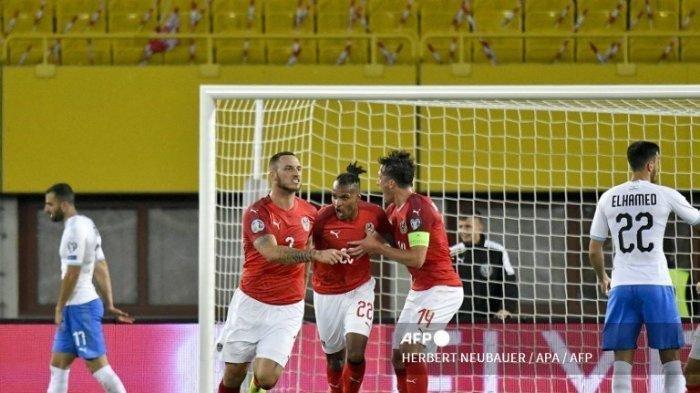 SEDANG BERLANGSUNG Grup C EURO 2020 Austria vs Makedonia Utara, Tren Positif David Alaba cs