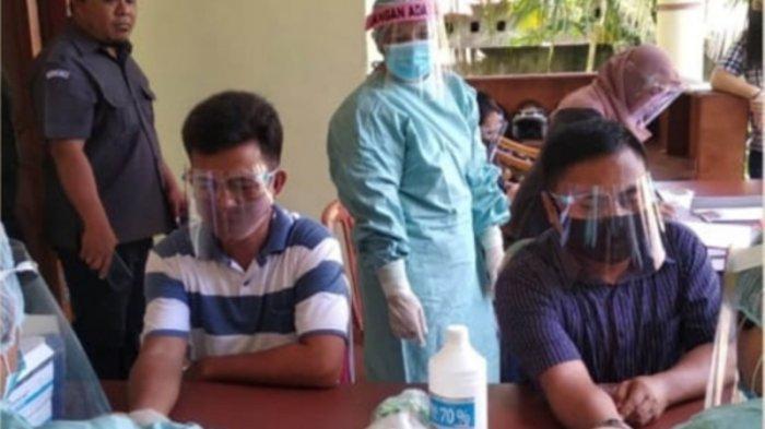 Jajaran Bawaslu Sitaro Jalani Rapid Test Masal