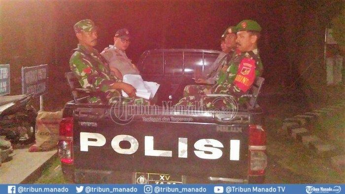 Jajaran Kodim 1302 Laksanakan Patroli Bersama Aparat Kepolisian