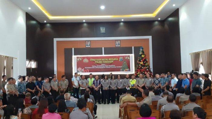 Jajaran Polres di Kota Ini Gelar Ibadah Perayaan Natal