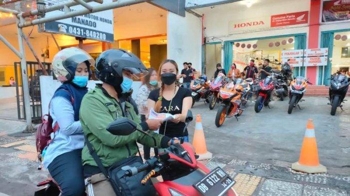 Tridjaya Motor Samrat dan CBR Manado Berbagi Takjil ke Masyarakat