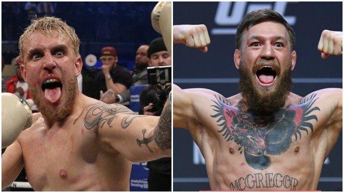 Jake Paul dan Conor McGregor. YouTuber Jake Paul menantang duel jagoan UFC Conor McGregor.