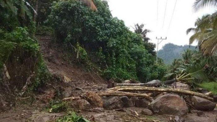 Curah Hujan Tinggi, Ruas Jalan Kotabunan-Bukaka Tertutup Longsor