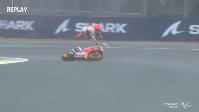 Jalannya MotoGP Prancis 2021, Balapan Diguyur Hujan, hingga Kecelakaan Horor Marquez