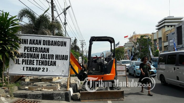Pemkot Manado Bangun Jalur Hijau di Jalan Boulevard