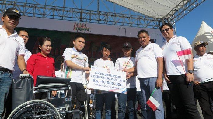 Meriahkan MSRF 2019, Jasa Raharja Sulut Berikan Beasiswa dan Kursi Roda ke Pelajar Korban Lakalantas