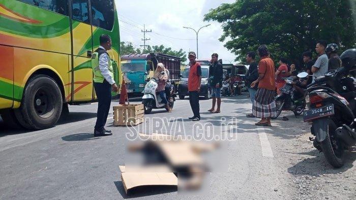 Kecelakaan Maut Tadi Pagi, Seorang Ibu-ibu Pemotor Beat Tewas, Sopir Truk Kabur Usai Tabrak Korban
