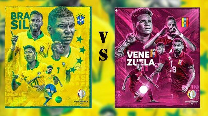 Jadwal dan Link Live Streaming Copa America 2021: Brasil vs Venezuela dan Kolombia vs Ekuador