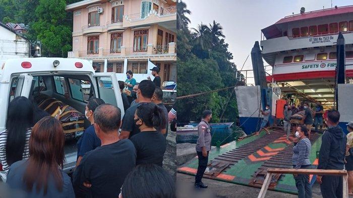 JenazahKorban Tersengat Listrik Gisheril Katuhu Tiba di Siau Menggunakan KMP Lokong Banua