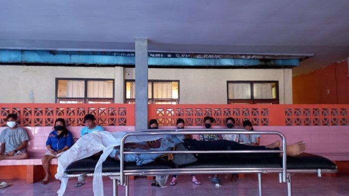 Jenazah korban kecelakaan Lalu Lintas di kamar jenazah RS Prof Kandou Manado