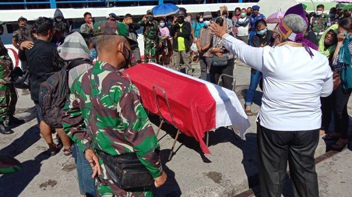 Jenazah Anggota TNI AD Prada Jemson Wiyasa Disambut Isak Tangis di Talaud