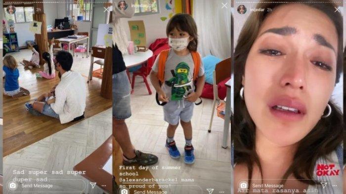 Jessica Iskandar Menangis, Melihat Richard Kyle Antar El barack Sekolah