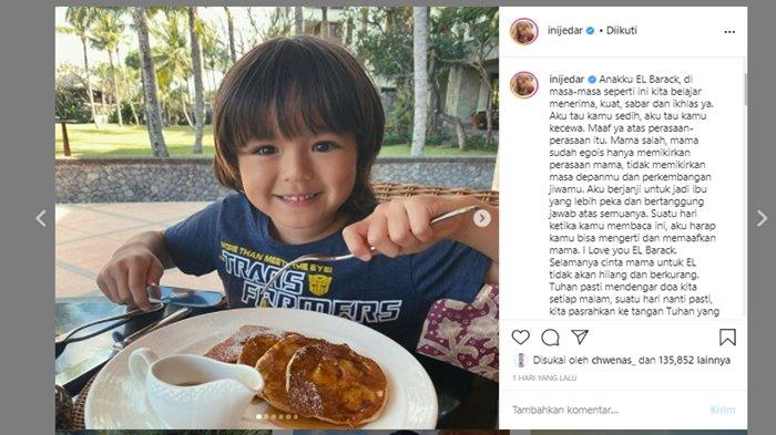 Jessica Iskandar tulis pesan haru untuk El Barack