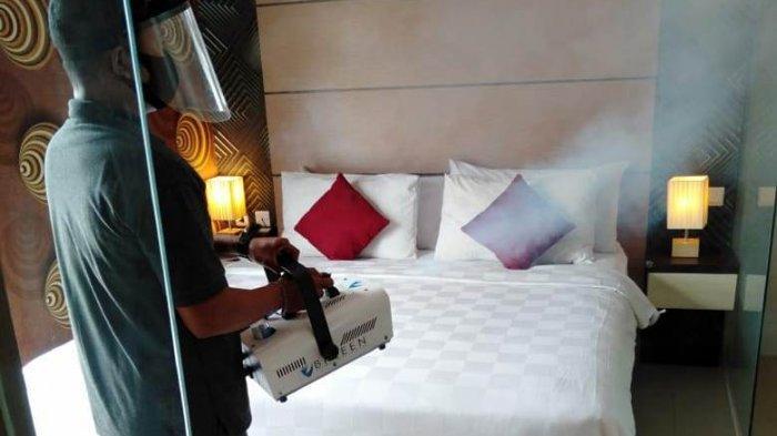 Menjaga Sterilisasi Kamar Hotel, Jle's Boutique Hotel Lakukan Fogging Disinfektan