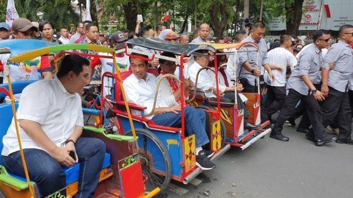Jokowi Pilih Naik Becak saat Kampanye di Makassar