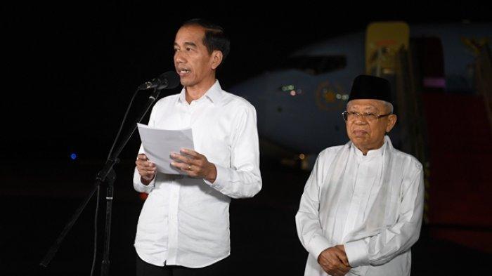 Cerita Ma'ruf Bikin Jokowi Tertawa saat Nobar Sidang Putusan MK