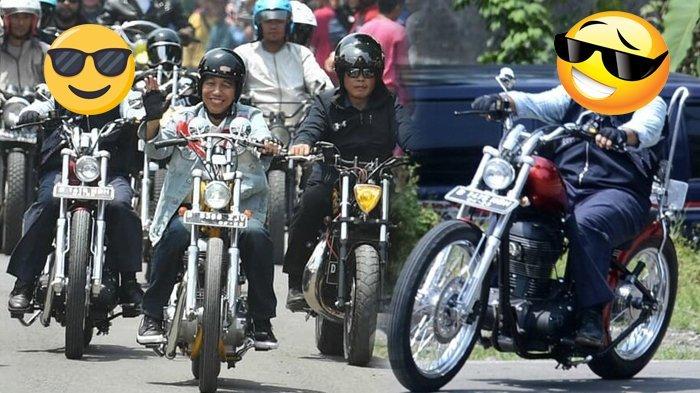 Siapa ya Biker di Belakang Presiden Jokowi yang Bikin Netizen Gagal Fokus. Gayanya Tak Kalah Kece