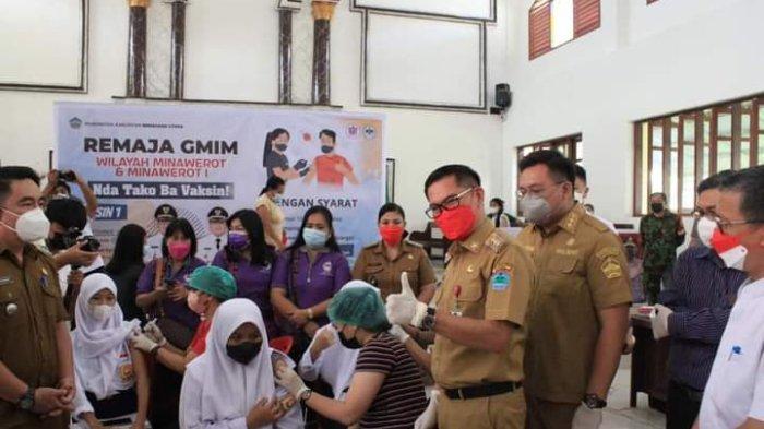 Vaksinasi Covid 19 Berbalut Toleransi di Minut, Remaja Muslim Jalani Vaksinasi di Gereja