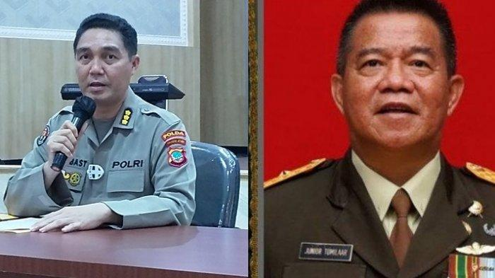 Kabid Humas Polda Sulut Kombes Pol Jules Abraham Abast dan Irdam Merdeka Brigjen TNI Junior Tumilaar