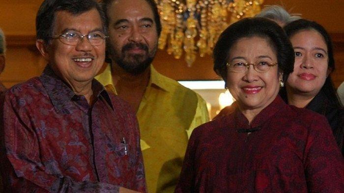 Jusuf Kalla dan <a href='https://manado.tribunnews.com/tag/megawati-soekarnoputri' title='MegawatiSoekarnoputri'>MegawatiSoekarnoputri</a>. Capres 2024 dari PDIP.