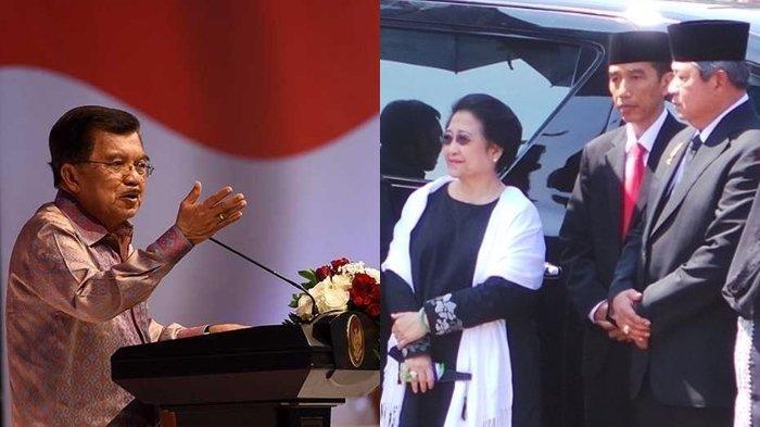 Jusuf Kalla Terang-terangan, Ngaku Hormati Mega, Dihina SBY hingga Singgung Jokowi Tak Berpengalaman