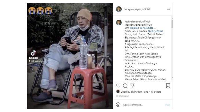 Kabar Duka Meninggalnya Sutradara Didied Kertaradjasa; diunggah di Instagram, (7/7/2021).