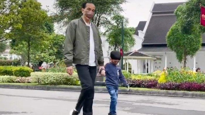 Kabar Jan Ethes Cucu Presiden Jokowi, Selama Pandemi Jarang Bertemu Sang Kakek, Begini Kondisinya