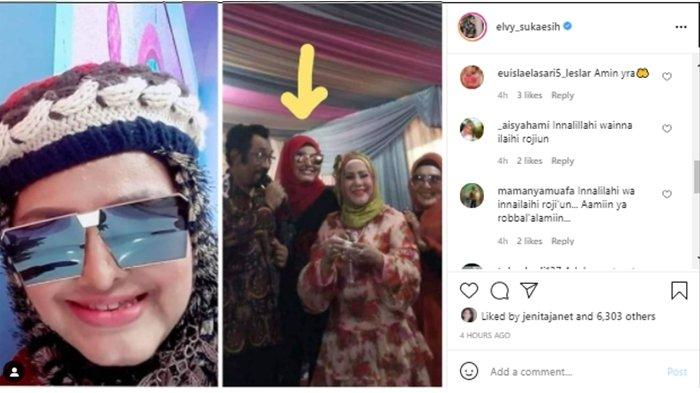 Kabar Neneng Anjarwati meninggal dunia; diunggah di Instagram, Rabu (14/7/2021).