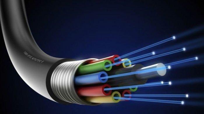 (Ilustrasi) kabel fiber optic.