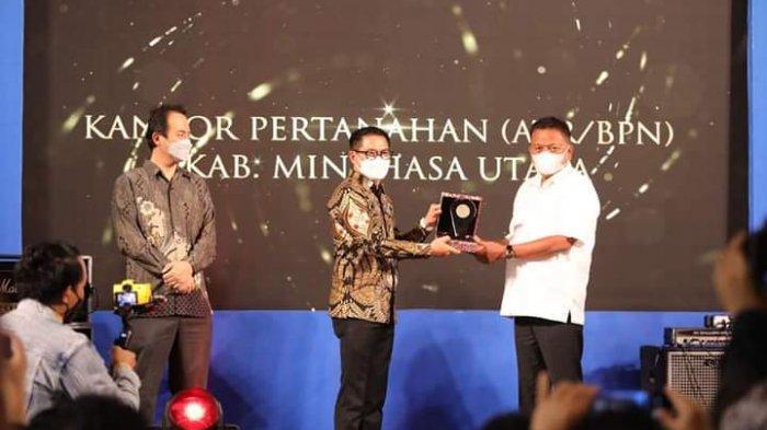 Wali Kota Minut Joune Ganda Terima Penghargaan REI Sulut Awards