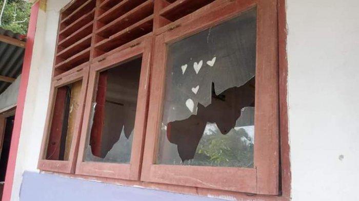 Gedung SMP Kristen Tondei Dilempar Orang Tak Dikenal, 9 Kaca Jendela Hancur