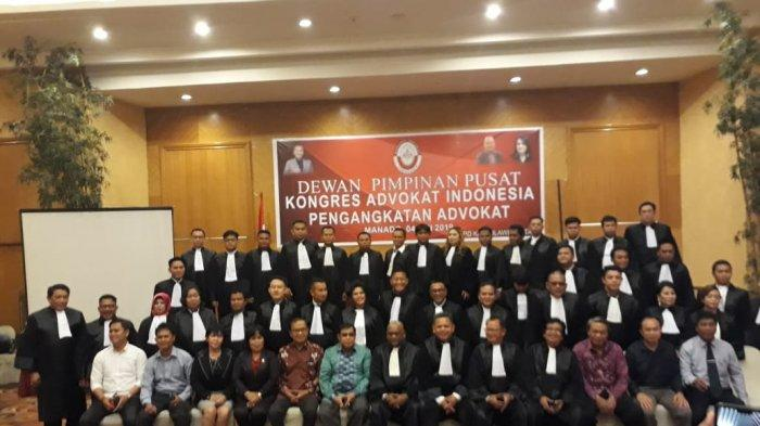 DPD Kongres Advokat Indonesia Sulut Lantik 41 Advokat