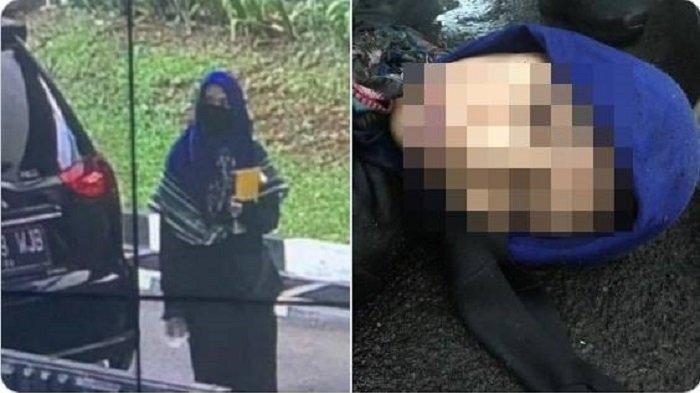 Kolase foto terduga teroris ditembak mati di depan Mabes Polri, Rabu (31/3/2021).