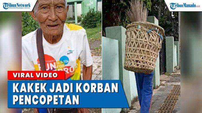 VIDEO Kakek Penjual Sapu Lidi Jadi Korban Pencopetan