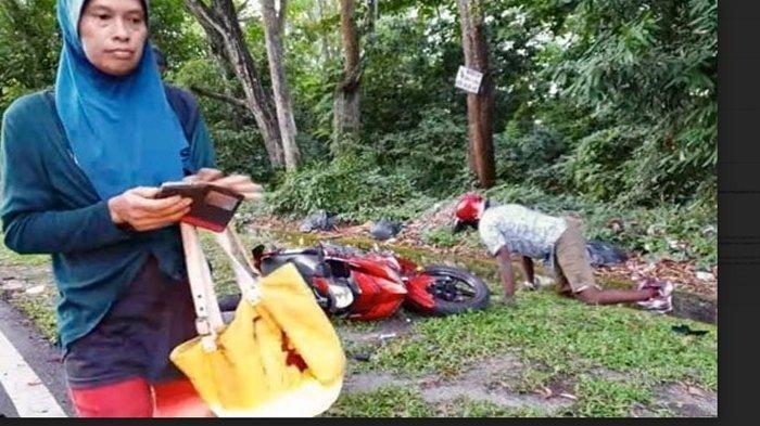 Kaki Pria Ini Hilang SeusaiMenjambret Tas Wanita, Coba Kabur Lalu Tabrak Mobil, Kejadiannya Viral